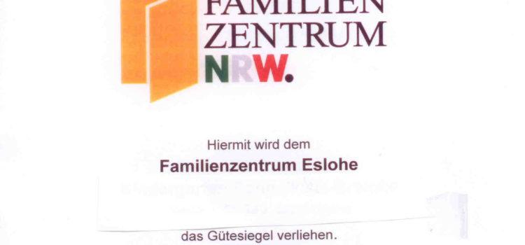 Re-Zertifizierung für das Gütesiegel Familienzentrum NRW